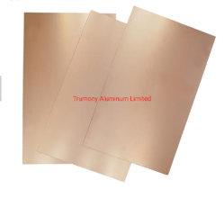 4047 H24 5052 H32 Folha revestido de cobre da base de alumínio