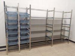 Aço inoxidável Medical prateleiras modulares