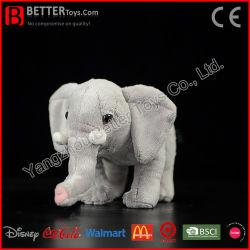 Het veilige Materiële Stuk speelgoed van de Jonge geitjes/van de Kinderen van de Olifant van de Baby van de Pluche