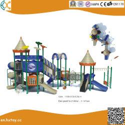子供の遊園地のための商業屋外のプラスチック運動場装置