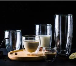 250/350/450/650ml en verre borosilicaté haute paroi double espresso tasse à café/thé