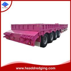 Degli assi triplici di goccia camion di rimorchio laterale semi per il trasporto del contenitore ed il trasporto allentato del carico
