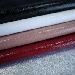 Miroir fissure de la tortue de surface en cuir artificiel PU élastique pour le pantalon Vêtement veste