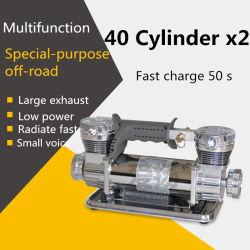 Compressor van de Lucht van de Cilinder van gelijkstroom 12V de Dubbele Elektrische Draagbare blaast Pomp voor Auto op
