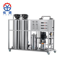 2000L FRP Filtro de carbón activado y el sistema de Osmosis Inversa Tratamiento de Agua maquinaria con Esterilizador UV