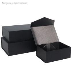 صندوق تغليف الهدايا للغطاء القلاب مغناطيسي للغطاء بدون شريط لمنتجات المأجج و wig