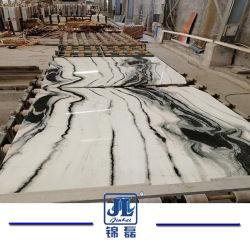 Panda Bookmatched de marbre blanc naturel pour la cuisine/salle de bains/mur/Flooring/escalier/Tile/gaine optique