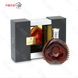 Un style simple vin de verrouillage de l'emballage cadeau de fer Boîte en bois avec miroir de PC