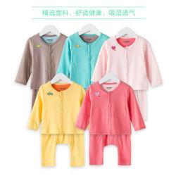 Timtex Custom 100% algodón/ Imprimir Logotipo bordado de algodón orgánico bebé Camiseta de manga larga y pantalón ajustado