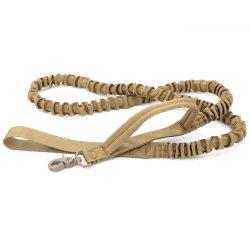 El bungee táctica la correa del perro de liberación rápida de mango 2 Gato elástico de la correa del perro de mascota lleva una cuerda de perros correas de formación militar