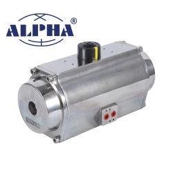 Serie famosa dell'acciaio inossidabile dei prodotti alfa un Rt02700 pneumatico per l'azionatore della valvola a sfera