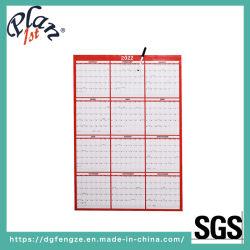 """Zoll 48X32 """" trocknen Löschen-umschaltbaren vertikalen horizontalen roten jährlichen Papierwandkalender"""