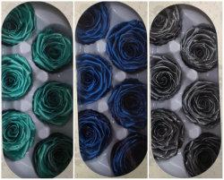 Blue Silver Metallic eternidad rosas que duran de 3 a 5 años
