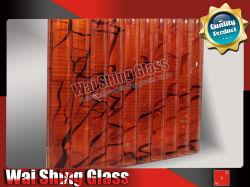 Avec du tissu de verre gravés le verre feuilleté pour la décoration intérieure