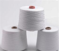 순수한 면 회색 피복 길쌈을%s 적당한 100%년 면 털실 털실