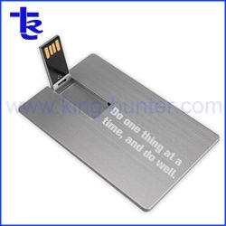 Métal alumineux carte de crédit pour don de la société de stockage USB