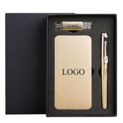 Publicité d'entreprise Banque d'alimentation Portable 10000mAh stylo à bille ensemble des dons avec logo personnalisé
