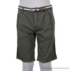 Саржа из хлопка моды окрашивания одежды мужчин коротких замыканий (F014)