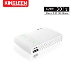 Ultra-fino 6000mAh bateria externa de Carregamento Rápido com visor LCD Tamanho pequeno banco de energia compatível com iPhone xs