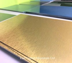 Blad/Plaat van het Aluminium van de Sublimatie van de Oppervlakte van de Borstel van de Deklaag van de douane de het Lege