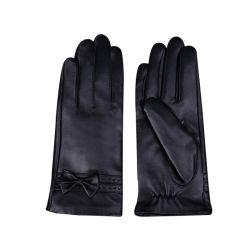 Revestimento de seda Senhoras mulheres 100% Lambskin Etíope odres de pele negra Opera veste luvas para o Inverno