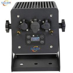 بطاقة LED par Car تعمل بالبطارية اللاسلكية لـ RGBWA+ UV DMX تعمل بالبطارية اللاسلكية 6in1