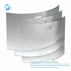 6mm 8mm 10mm piano/hanno curvato/vetro Tempered piegato caldo per il piano d'appoggio della rete fissa di /Refrigerator/Pool del congelatore/portello di vetro dell'acquazzone