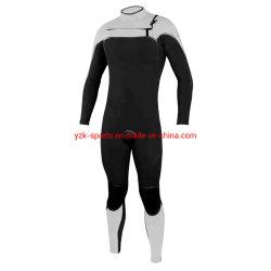Cremallera frontal de célula abierta 5/3mm de neopreno elástico natación adulto traje de Surf