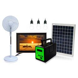 Home Application Multi Solar Power System نظام الإضاءة المنزلية مع تلفزيون 19 بوصة للعائلة وهي تشاهد الأنظمة الشمسية
