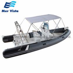 580 Hypalon Geschwindigkeits-Sport-Yacht-Fiberglas-aufblasbare Rippen-Boote, die für Verkauf fischen
