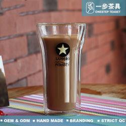 Hitzebeständige doppel-wandige Glaskaffeetasse