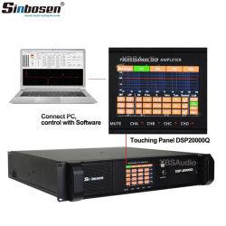 Sinbosenの計算機制御4チャネル4000のワットDSP20000qステレオのAmpliferのカラオケDSPのオーディオ・アンプ