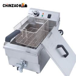 17L'Arachide profonde du réservoir de la friteuse avec robinet d'un commutateur on/off Mini friteuse électrique