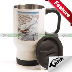 En acier inoxydable 11oz personnalisé impression Photo chaud thermique Travel Coffee Don Tumbler Mug tasse