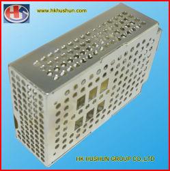 Panel de alta precisión golpeando la caja de metal estampado de precisión, con el zincado (HS-SM-001).