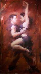 油絵のダンスのカップル