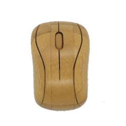 Mouse ottico senza fili di bambù per il calcolatore o il computer portatile