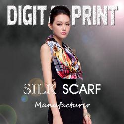 Цифровая печать шелк 100% Саржа из шелка, шелк атласный (M017)