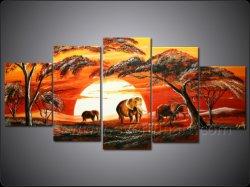 Wall Art Accueil décoration Peinture de paysage africain de l'huile (AR-124)