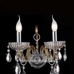 Heißes Glass Candle Wall Lamp mit K9 Crystal