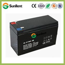 12V9ah batería AGM libre de mantenimiento para vehículos eléctricos de iluminación de UPS aplicaciones solares