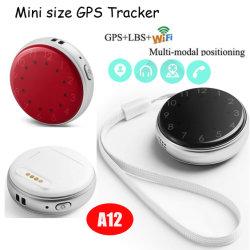 نظام التتبع المصغر عالي الجودة من سبلاش مقاومة للماء 2G GSM Security Mini Tracker مضاد للفقدان جهاز تعقب GPS للأطفال الكبار مع مكالمة الطوارئ A12