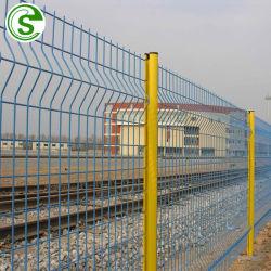 6ft Heavy Duty geschweißte Drahtgeflecht Zaungrün Eisenbahn zu schützen Zaun