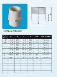 مادة خام بلاستيكية مصنوعة من مادة البولي فينيل كلوريد الأنثى ASTM Sch40 D-2466 قياسية