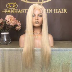 Pruik van het Kant van het in het groot #613 Haar Braziliaans/Indisch Virgin/Remy van de Kleur Menselijke de Volledige/Frontale met Zijdeachtige Recht