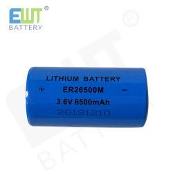 고용량을%s 가진 1 차적인 리튬 건전지 3.6V Li Socl2 힘 유형 Er26500m 3.6V 6500mAh