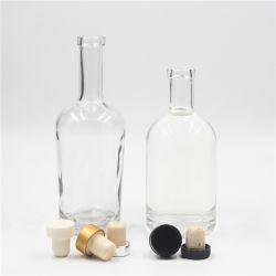 200ml 375ml 500ml 750mlアルコール度の強い酒の空の装飾的なウォッカのガラス精神のびん