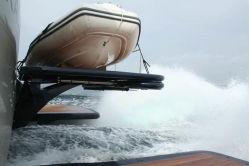 二重デッキのガラス繊維の膨脹可能なディンギーのヨットの貨幣のためのゴム製海ボート360 3.6mの肋骨のボート