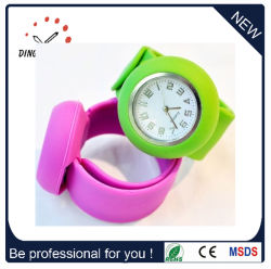 Mode Bracelet Bracelet en silicone Quartz Slap Watch (DC-083)