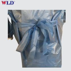 100% algodón de manga larga bata de médico de ropa hospitalaria para pacientes